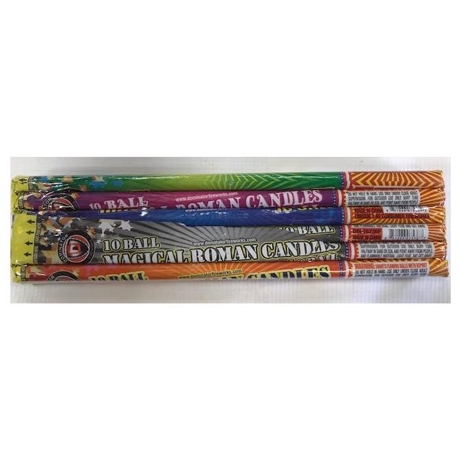 Magical 10 Ball Roman Candle