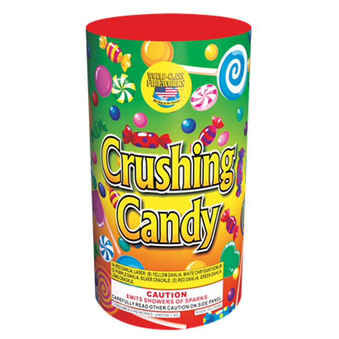 crushing candy