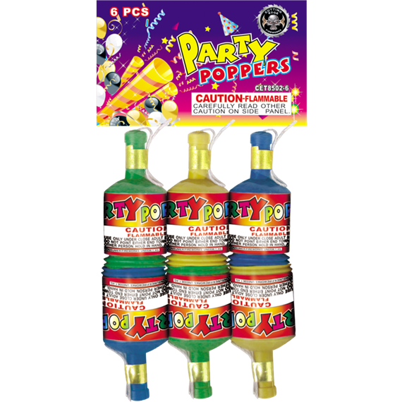 Party Poppers (6)