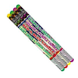 Two Color Assorted Roman Candle 5 ball (4 pack)