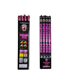 5 Shot Platinum Pink Roman Candles