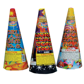 #8 Assorted Cone|Jake's Fireworks