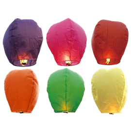 Sky Lantern Colors- Mixed (1) In Store Pick Up