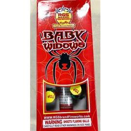 Baby Black Widow Canisters (6  floral shells + fiberglass tube)