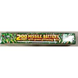 200 shot Saturn Missile Battery w Green Glitter Tails (1)