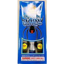 Baby Black Widow Crackling break Canisters ( 6 crackling shells+ fiberglass tube)