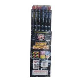 Crackling Roman Candle 10 shot (pack of 6)