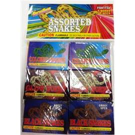 Assorted Color Snake Pack (6)